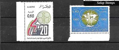 ALGERIA 1980 20TH ANNIV.ORGANISATION OF PETROLEUM EXPORTING SG772,773 umm