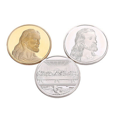 Jesus Last Supper Commemorative Round Coin Collection Collectible Christmas Gift
