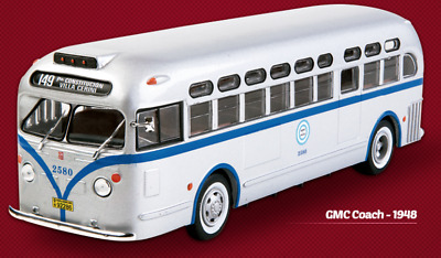 GMC Coach Argentina Bus Linea 149 1948 Rare Big Diecast Scale 1:43 New+ Magazine