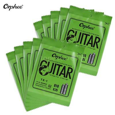 Orphee Single String Replacement for Acoustic Folk Guitar E-String (.010) I7T9