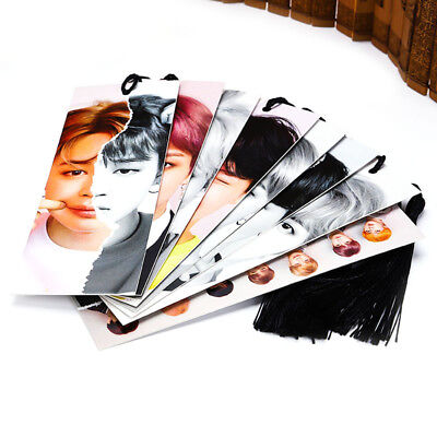 8pcs/set KPOP BTS LOVE YOURSELF 結 ANSWER HD Photocard Bookmarks Memo Note Label