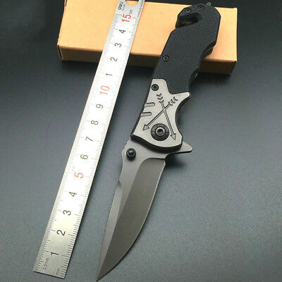 Spring Assisted Folding Pocket Knife Small Tactical Rescue Multi-Tool Knife