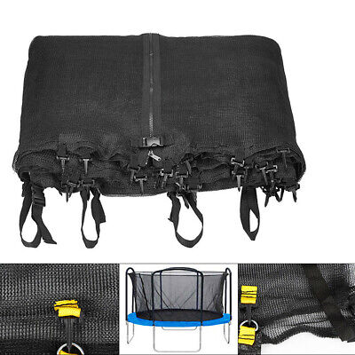 12 14 15 ft Trampoline Net Safety Enclosure Fence Round Frame Bounce Mesh Opt US