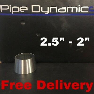 """2.5"""" inch to 2"""" inch 316L Stainless Steel Exhaust Reducer Cone"""