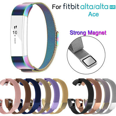 Stainless Steel Magnetic Milanese Band Strap Wristband For Fitbit Alta HR ACE