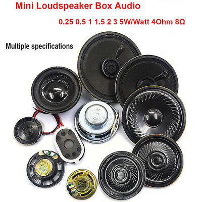 Diy 23-77mm 0.25-5W 4Ω 8ohm Audio Speaker Stereo Woofer Loudspeaker Trumpet Horn