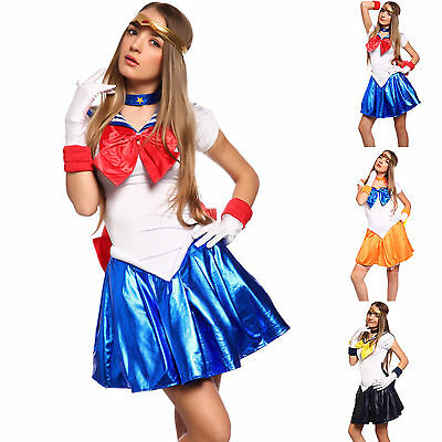 Sailor Moon Fancy Dress Costume  Cosplay Kostüm Anime Uniform Gloves Kleidung