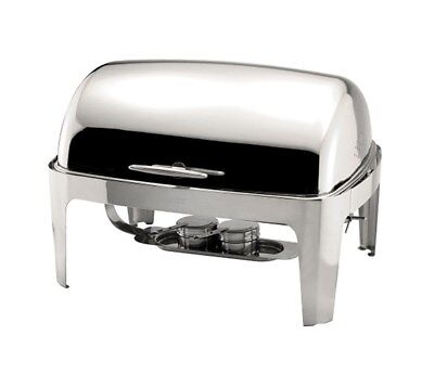 Roll Top Chafing Dish Full Size GN 9 ltr Capacity. Stainless Steel