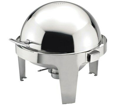 Round Roll Top Chafing Dish 6ltr Stainless Steel Lowest Price In UK