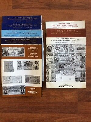 Lot of 8 RM Smythe Currency & Coin Auction 1990-99 Catalogs w/ Prices Realized