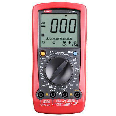 UNI-T UT58A LCD Digital Screen Multimeter Handhold AC / DC Voltage Test Device