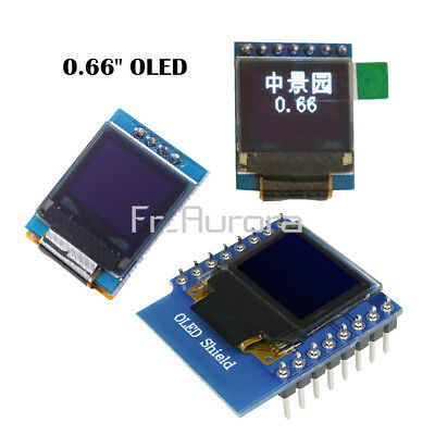"0.66"" I2C SPI 0.66inch OLED Display Module for STM32 WeMos D1 Mini OLED Shield"