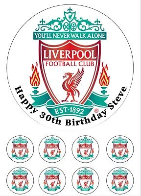 Liverpool Edible Icing Cake Topper Decoration