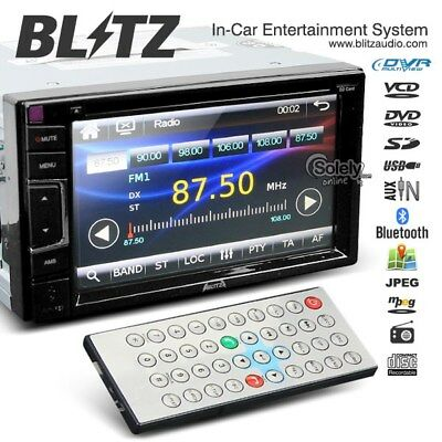 """Blitz 6.2"""" Touch Screen Double 2 Din Car DVD Player Headunit Stereo w/Bluetooth"""