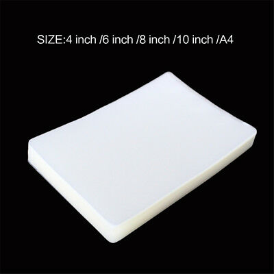 100Pcs 4/6/8/10 inch A4 Letter Thermal Laminating Pouches Sheets f. Leaflet Menu