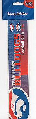 NEW! Official AFL Western Bulldogs Football Team Bumper Sticker #2 - New In Pack