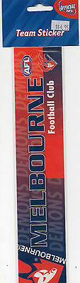 NEW! Official AFL Melbourne Demons Football Team Bumper Sticker - New In Pack