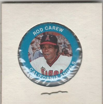 1984 Fun Foods Pin Back Button Angels Tommy John Rod Carew