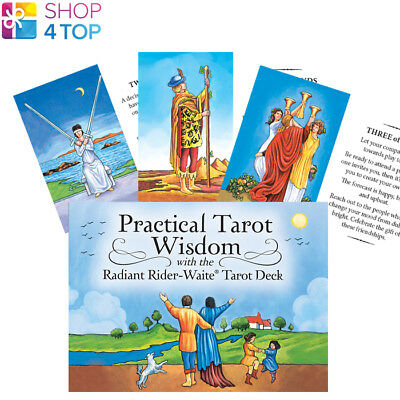 The Practical Tarot Wisdom With Radiant Rider Waite Tarot Cards Deck New