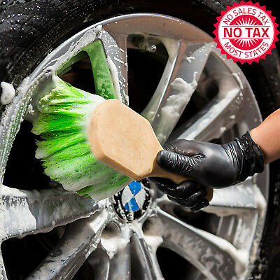 Short Handle Wheel/Tire Brush For Rims, Inner Fenders, Undercarriages And More