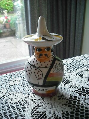 1960's RETRO KITCH -  TONI RAYMOND - MEXICAN  MAN SUGAR SIFTER- SUPERB DESIGN