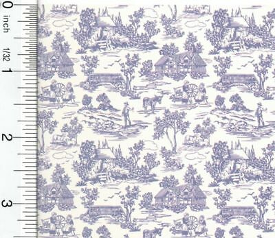 Dollhouse Wallpaper French Champagne Toile Blue