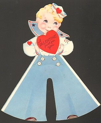 Dimensional Valentine Sailor Suit Young Boy Navy Bell Bottoms