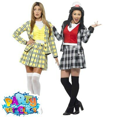 Cher Dionne Clueless Costume Ladies Adults Fancy Dress TV Film Womans Outfit