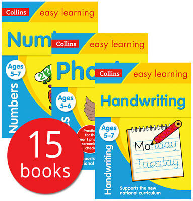 Collins Easy Learning Age 5-7 Collection - 15 Books