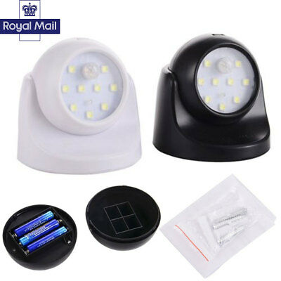 360° Battery Operated Outdoor Indoor  Garden Motion Sensor Security Led Light