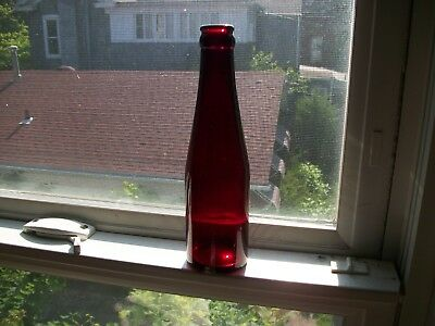 Beautiful Royal Ruby Red Schlitz Small Size Crown Top Beer 1940S Gorgeous!