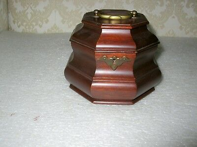 Rare Williamsburg Five  Forks Cabinet Shop Tea Caddy 1950's