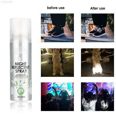 D09D Night Reflective Spray Paint Reflecting Safety Anti Accident Riding Bike