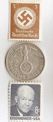 -*WW2 -  SILVER  - *us   and - *german coins / stamps...++