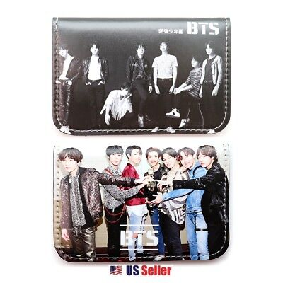 KPOP BangTan Boys BTS Faux Leather Card Holder Wallet : Type F