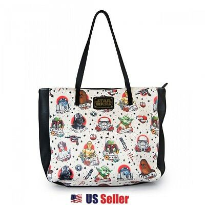 Loungefly x Star Wars: Tattoo Flash Print Faux Leather Tote Shoulder Bag