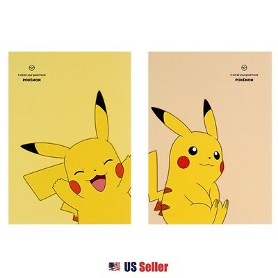 Nintendo Pokemon Pikachu College Ruled School Notebook Note Pad Set of 2