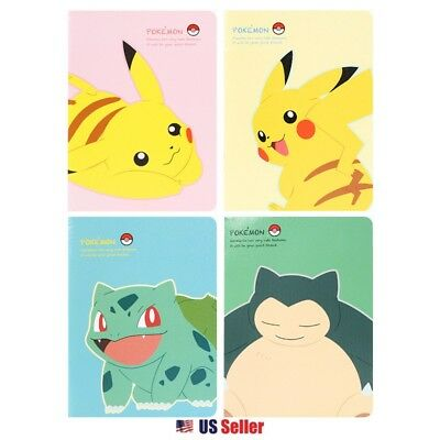 New Nintendo Pokemon Lined Mini School Notebook Note Pad : Set of 4