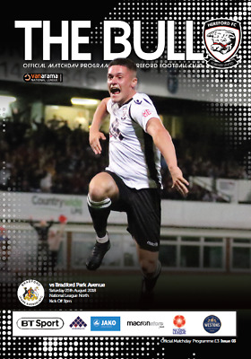 Official Matchday Programme | Hereford FC vs Bradford (Park Avenue)