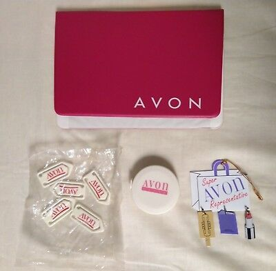 Avon Rep Selling Tools - Tape Measure, Paper Clips, Ornament, Appointment Cover