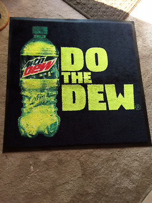 "Mountain Dew ""DO THE DEW"" advertising rubber back rug"