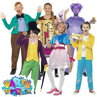 Roald Dahl Willy Wonka Costume Boys Girls Chocolate Factory Fancy Dress Book Day