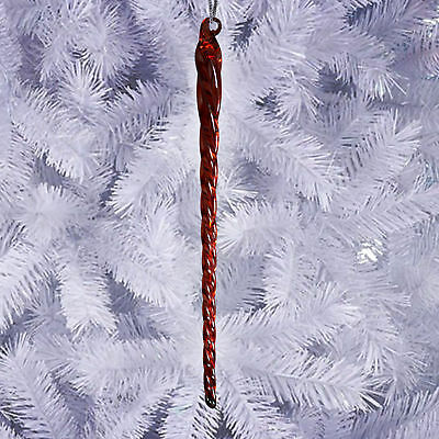 6 Inch Red Glass Icicle Ornaments Christmas Tree Hanging Xmas House Home Decor
