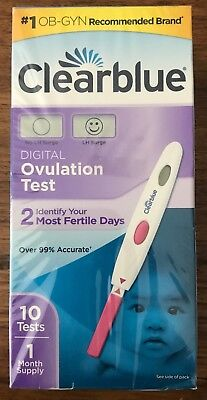 ClearBlue Digital Ovulation Test 1 Month Supply 10 Tests Expired 3/2018