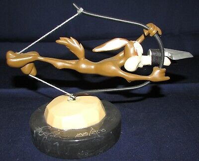 Signed Limited Edition Wile E. Coyote in Bow and Arrow Pose Figurine