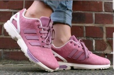 2d9adc689 Euc Womens Girls pink - white Adidas Torsion ZX Flux trainers size 4.5 4 1