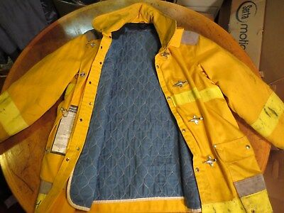 JANESVILLE FIREFIGHTER TURNOUT COAT Clean and Nice 48-35R