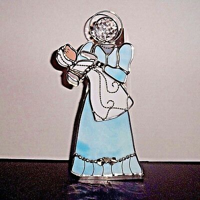 """Tiffany Stained Glass Collectors Society Angel """"Mothers Day Collection""""  8 1/2"""""""