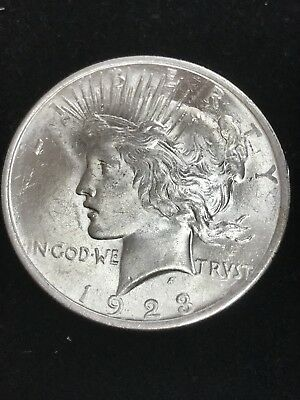 1923 Peace Silver Dollar  Near Gem Uncirculated