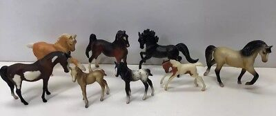 """1-2.5"""" Breyer Reeves Assorted Mini Model Horses Lot Of 8 Stablemates"""